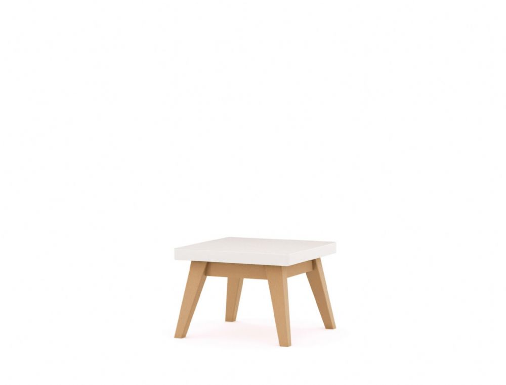 Pledge Me, Myself And I Square Bistro/Breakout Wooden Table With White Table Top
